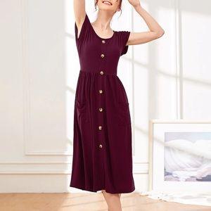 Burgundy Midi Dress size small